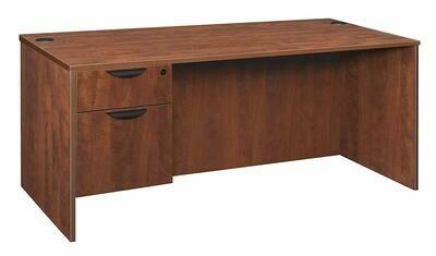 "Desk Executive 30""x60"" Single Pedestal, Laminated"