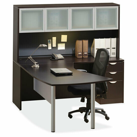 Desk L-Shape with Hutch