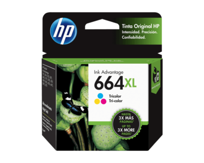 HP / 664XL Tri-Color Original Ink Cartridge