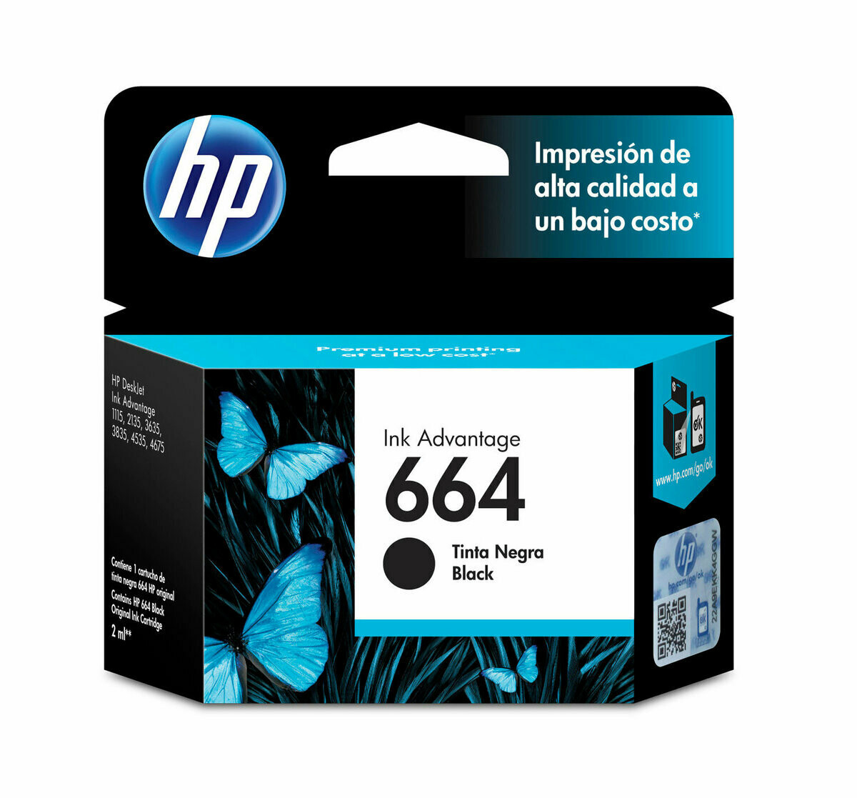 HP / 664 Black Original Ink Cartridge