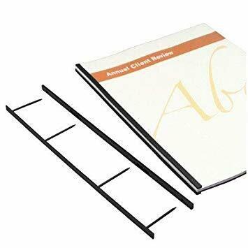 Tamerica / Velobind Binding Strips 1 x 4-pin,  Black, 100/Box
