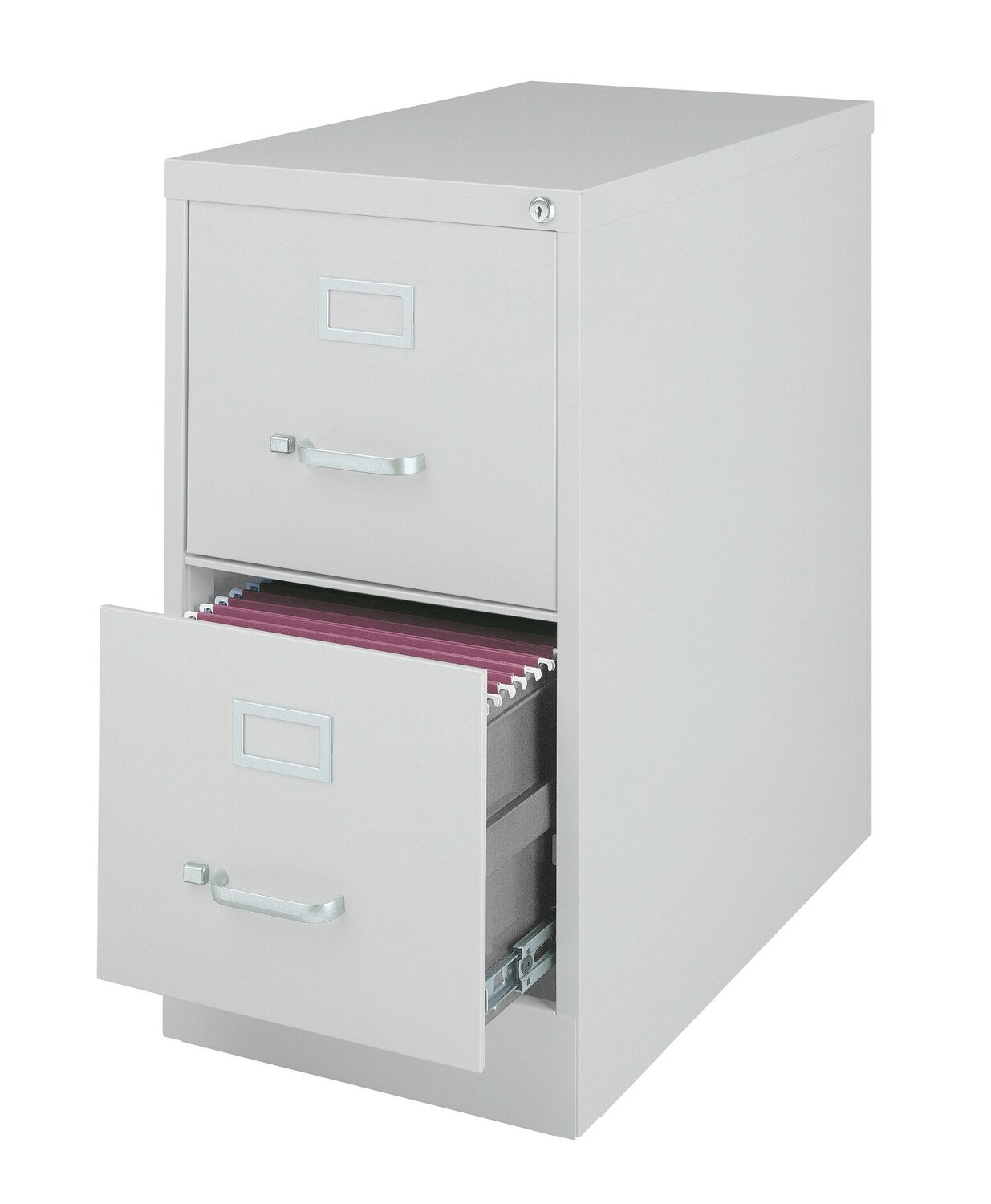 Vertical File Cabinet, 2-Drawer, LETTER, Gray