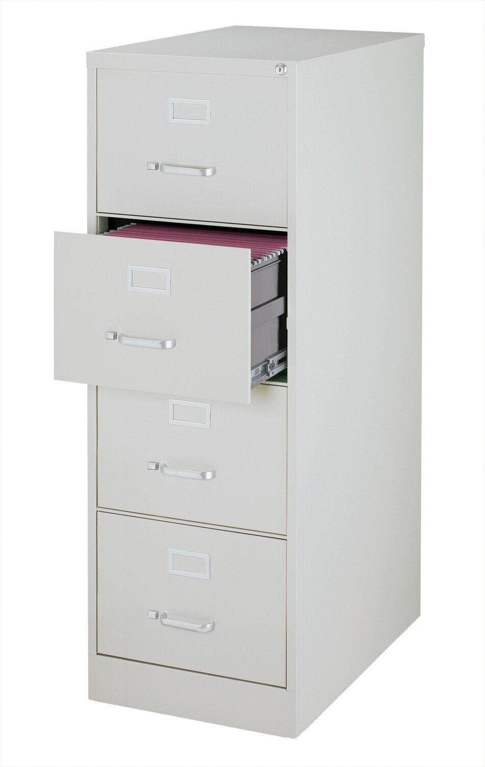 Vertical File Cabinet, 4-Drawer, LEGAL, Gray