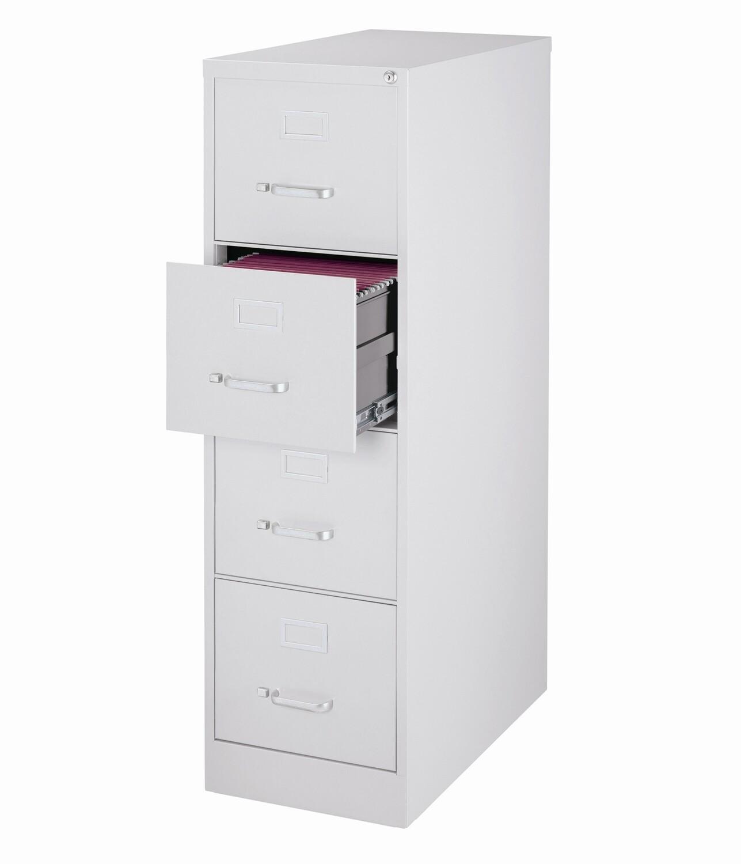 Vertical File Cabinet, 4-Drawer, LETTER, Gray