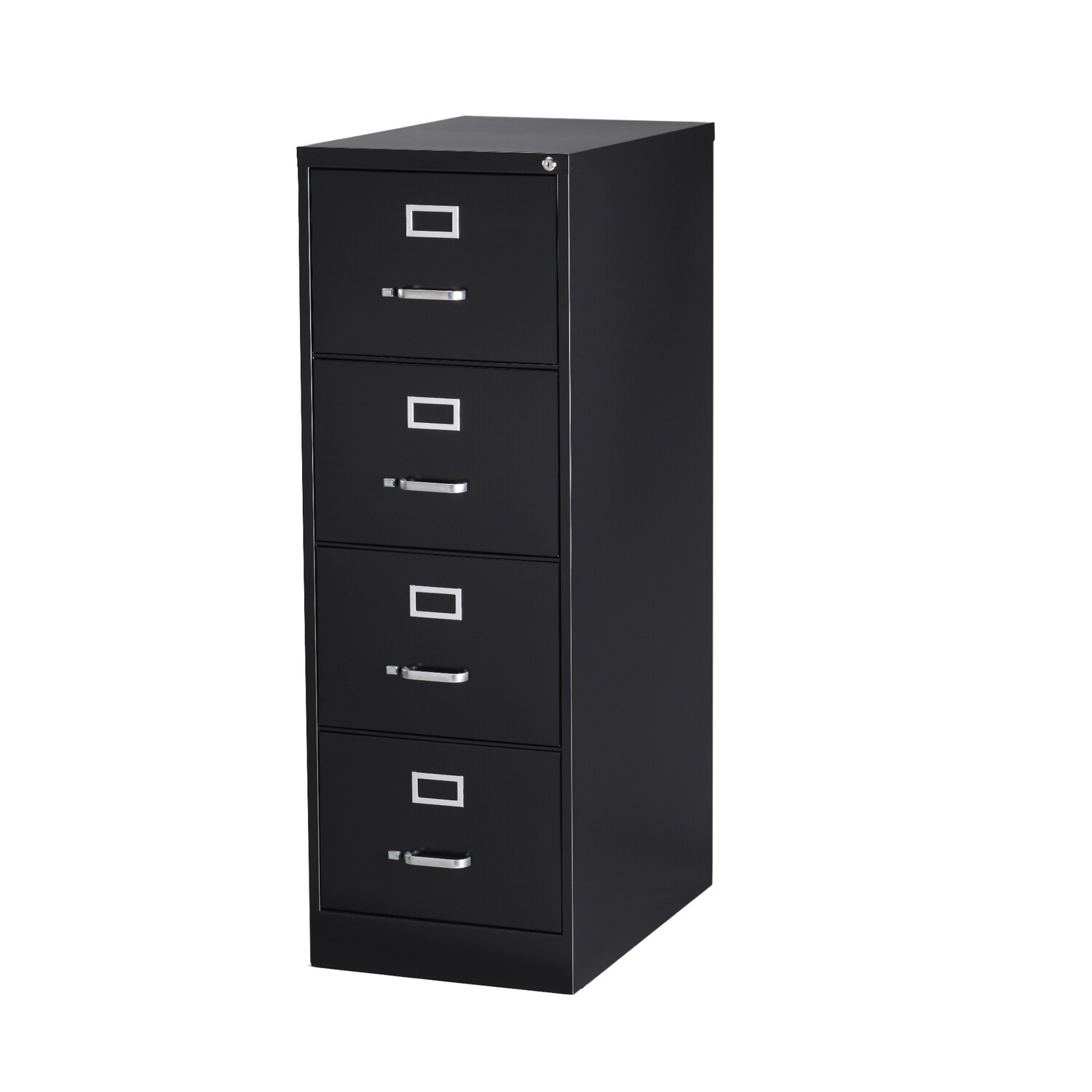 Vertical File Cabinet, 4-Drawer, LEGAL, Black