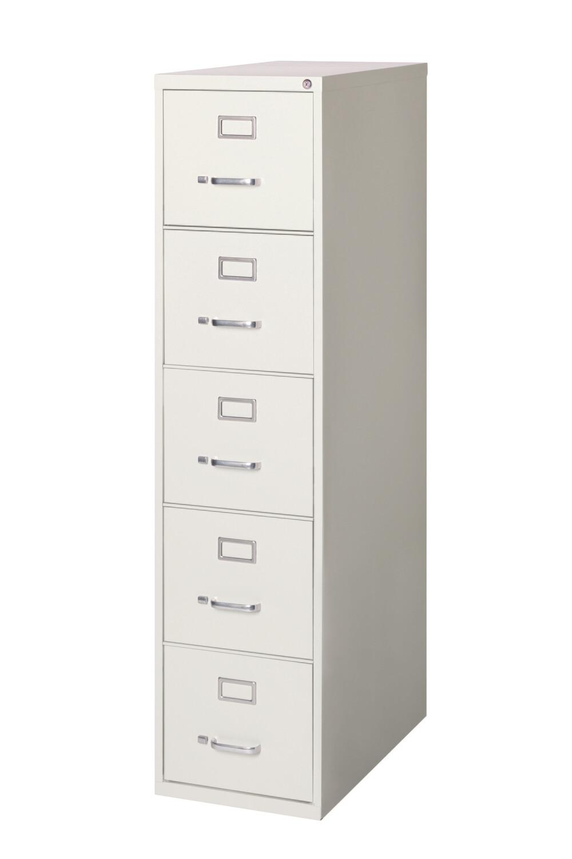 Vertical File Cabinet, 5-Drawer, LETTER, Gray