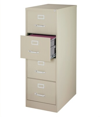 Vertical File Cabinet, 4-Drawer, LEGAL, Putty