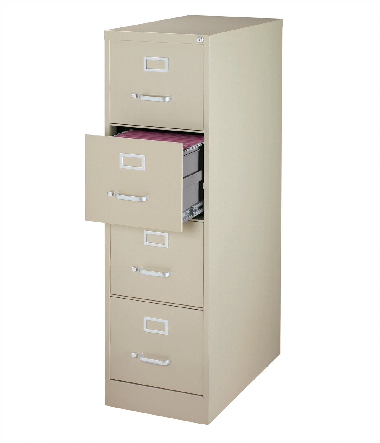 Vertical File Cabinet, 4-Drawer, LETTER, Putty