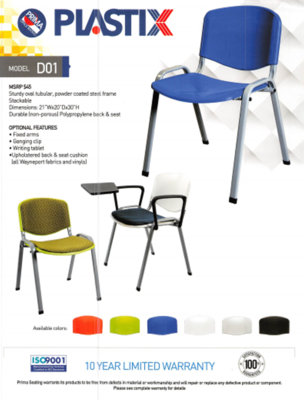 Visitor Seating, Plastix D01