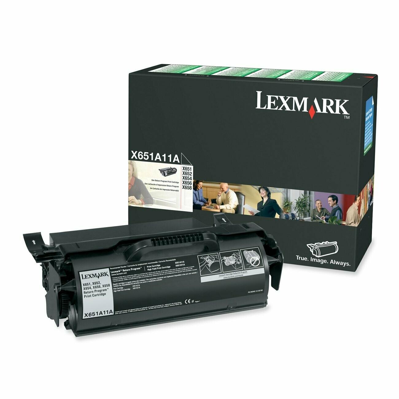 Lexmark / X651A11A Black Original LaserJet Toner Cartridge