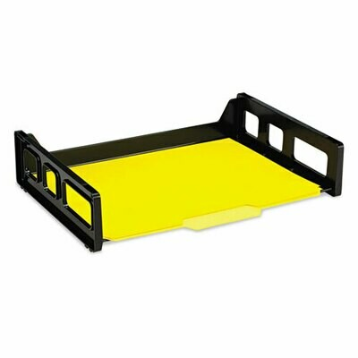 """Officemate / Recycled Side Load Desk Tray, 1 Section, Letter Size Files, 13.19"""" x 9"""" x 2.75"""", Black"""