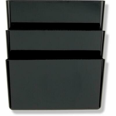 Officemate / Wall Files, Letter/A4 Size, Black, Pk-3