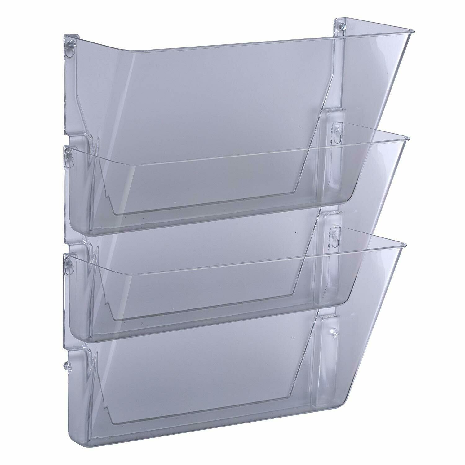 Officemate / Wall Files, Letter/A4 Size, Clear, Pk-3