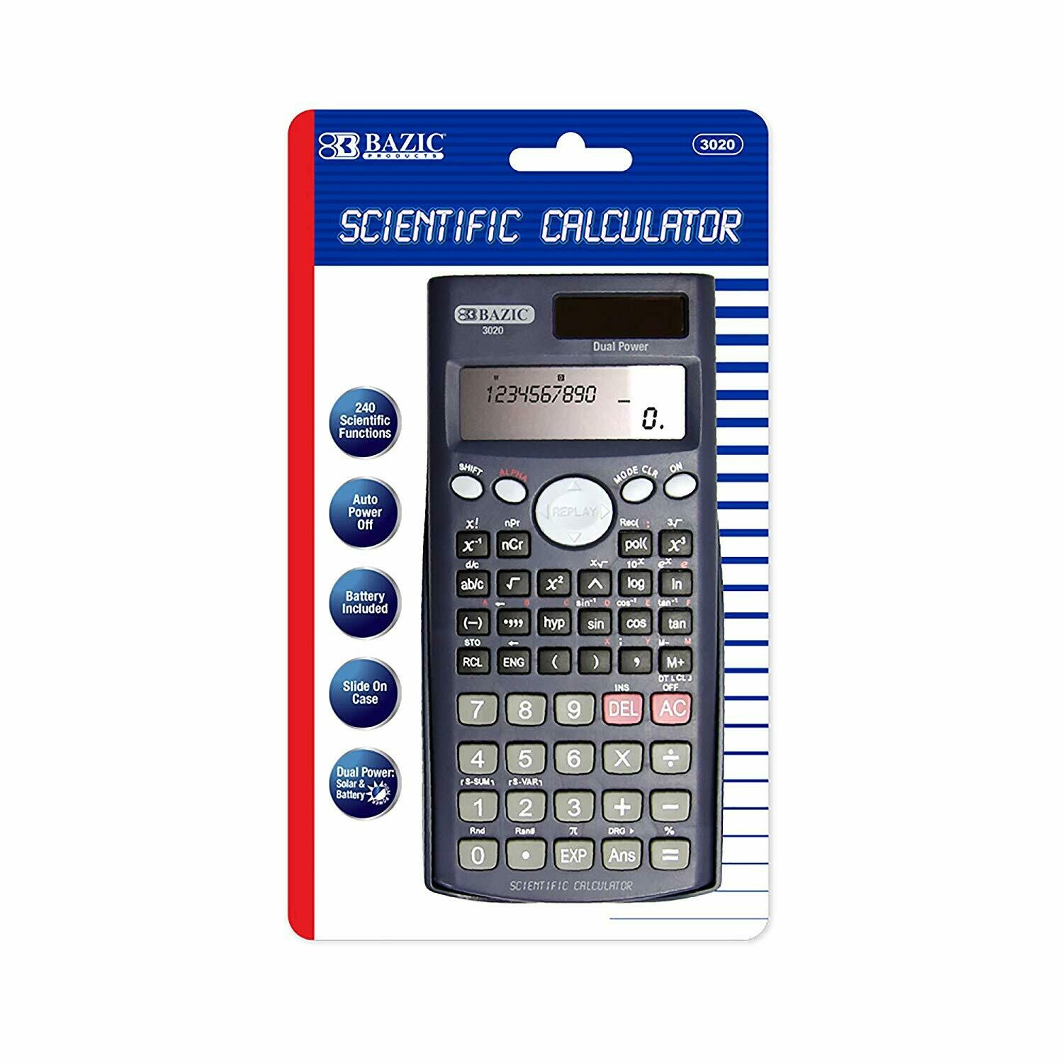 Bazic /  240 Function Scientific Calculator w/Slide-On Case