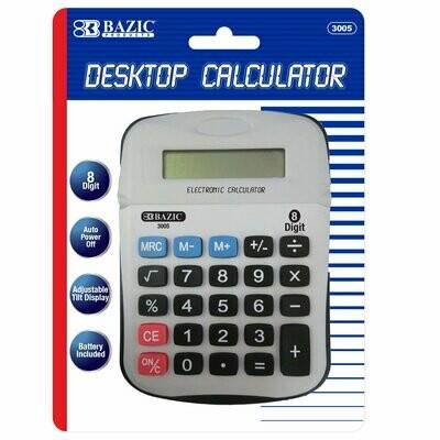 Bazic / 8-Digit Calculator w/ Adjustable Display