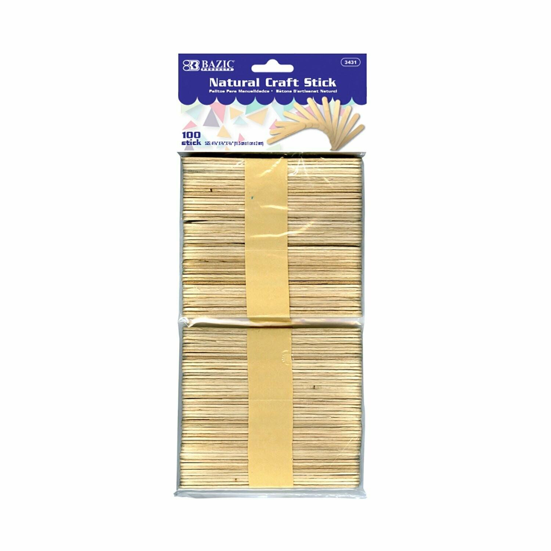 Bazic / Craft Sticks Natural