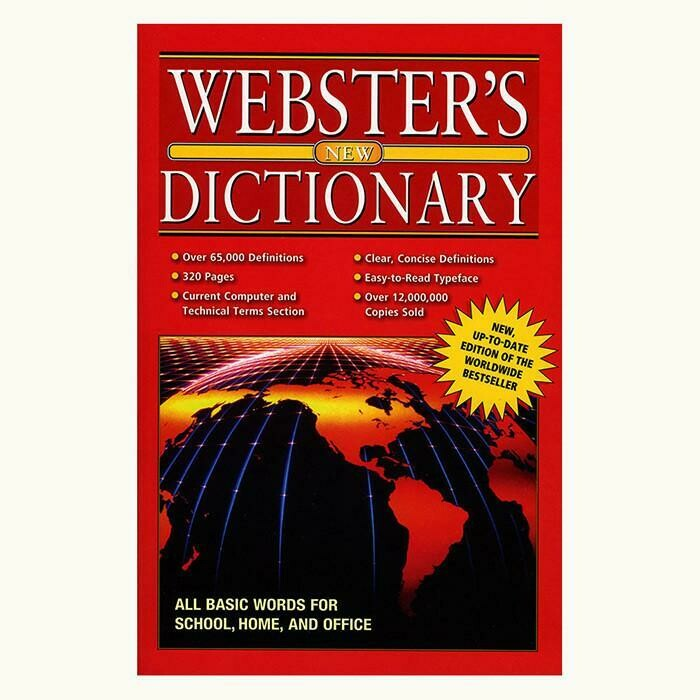 Webster Dictionary, English-English, Jumbo 320 Pg./ Bazic