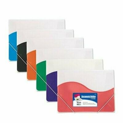 Bazic / Document Holder w/ Elastic Band Letter Size