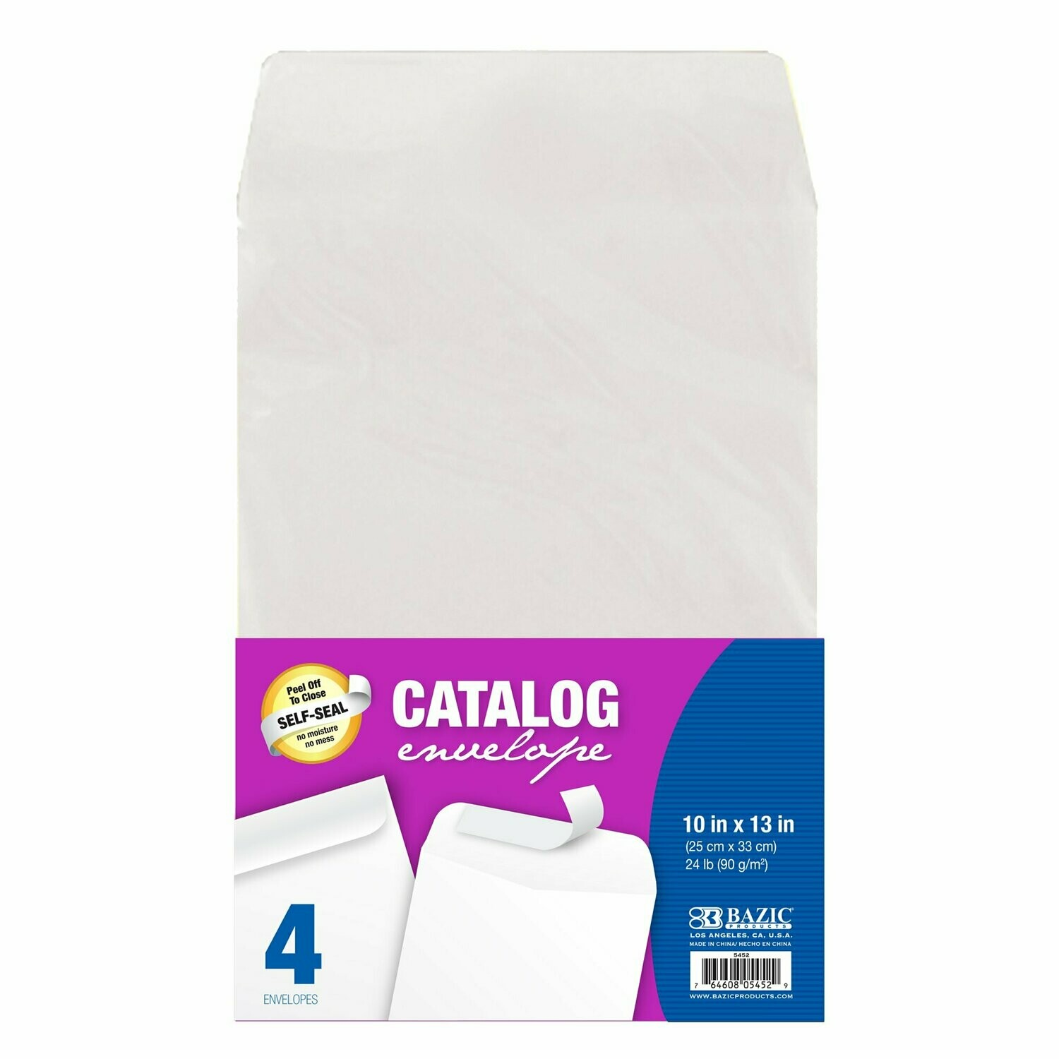 "Bazic / Self-Seal White Catalog Envelopes, 10"" x 13"""