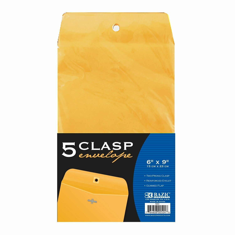 """Bazic / Clasp Envelope 6""""x 9"""""""