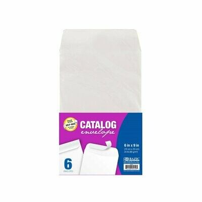 "Bazic / Self-Seal White Catalog Envelopes, 6"" x 9"""