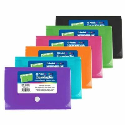 Bazic / Expanding File, 13-Pockets Coupon/Personal Check Size