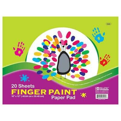 Bazic / Finger Paint Paper Pad 20 Ct. 16