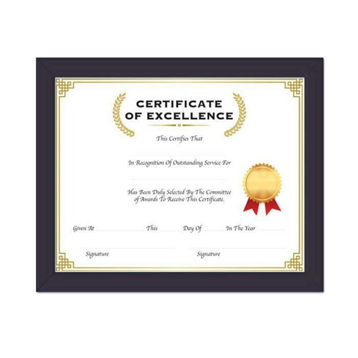 Bazic / Multipurpose Certificate Frame w/ Glass Cover