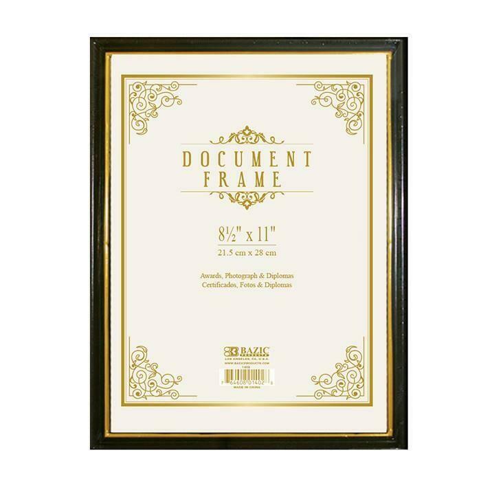 Bazic / Document Frame w/ Gold Border
