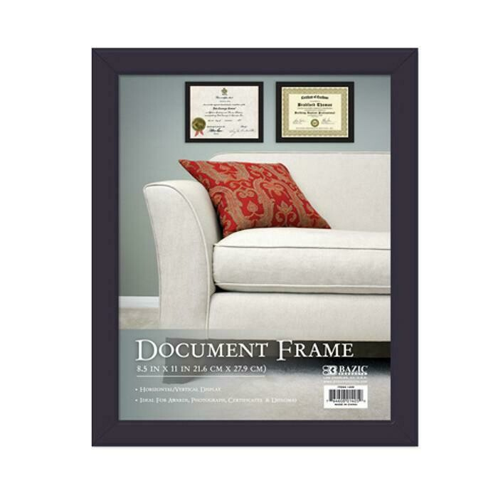 Bazic / Multipurpose Document Frame w/ Glass Cover