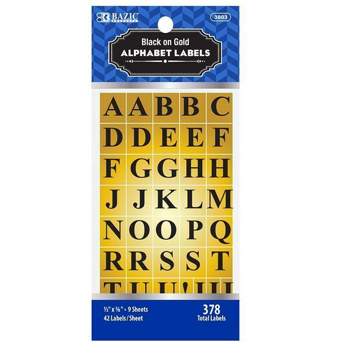 Bazic / Gold Foil Alphabet Label