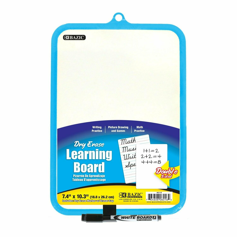 Dry Erase Learning Board, Double Sided  w/ Marker <Pizarra>