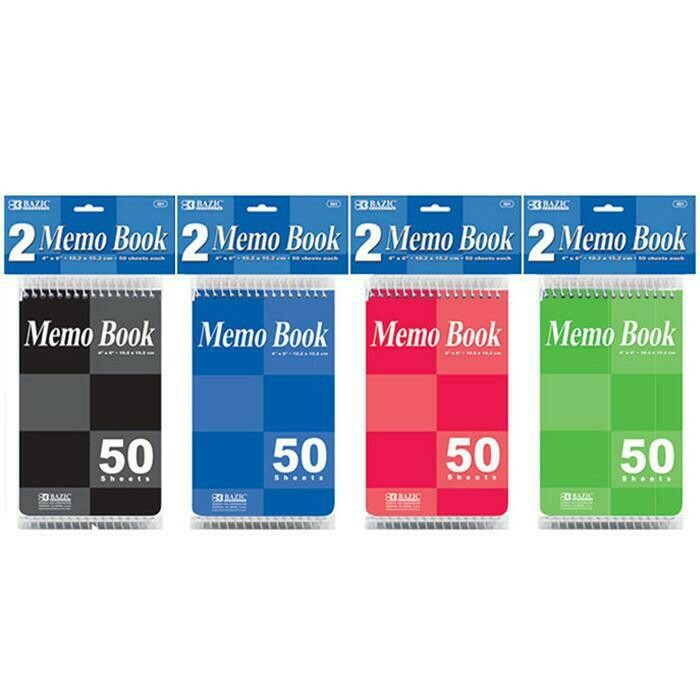 "Bazic / Memo Books 4""x 6"" Top Bound Spiral"