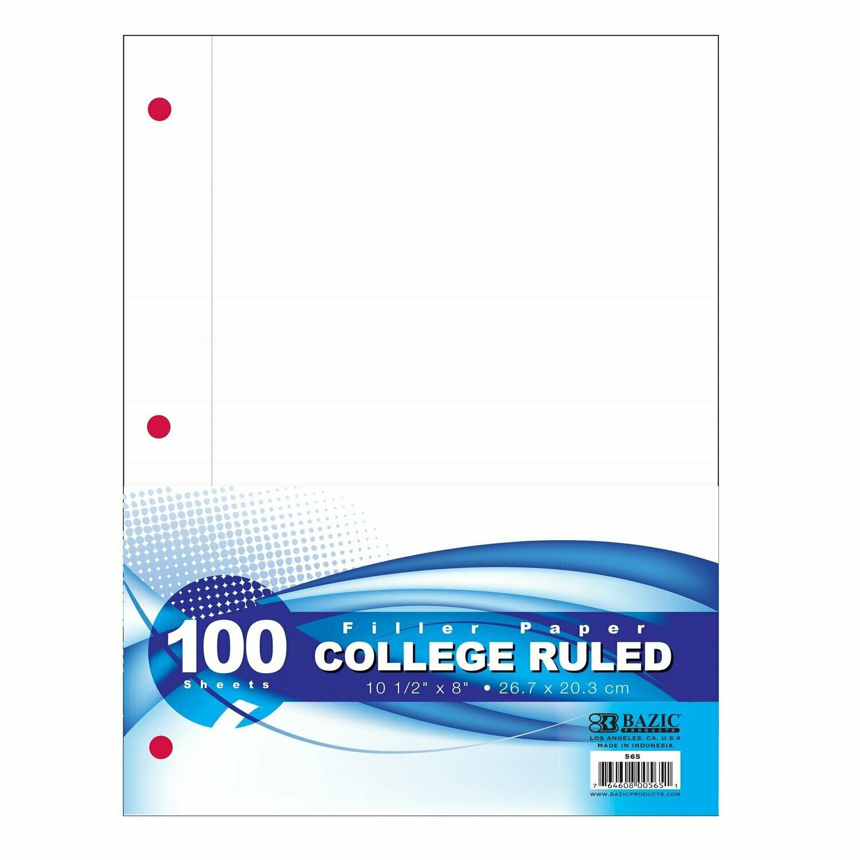 Bazic / Filler Paper 100 Ct.