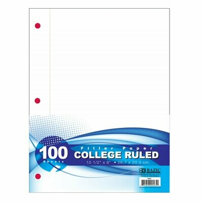Bazic / Filler Paper 100 Ct.