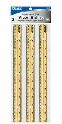 """Bazic /  Ruler 12"""" Wood, [Pk-3]"""