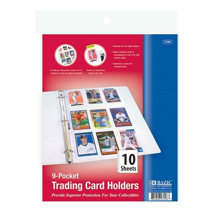 Bazic / Card Holder, Sports, Top Loading 9-Pockets