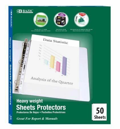 Bazic / Sheet Protectors, Heavy Weight, Top Loading, Box-50