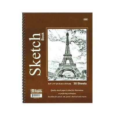 Bazic / Sketch Book Side Bound Spiral 8.5