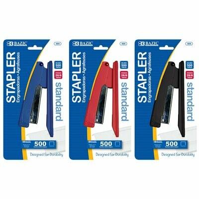 Bazic / Stapler Standard Metal w/ 500 Staples