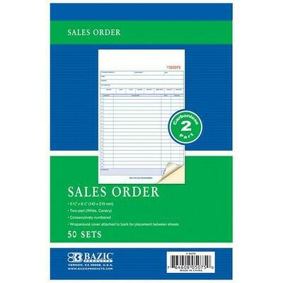 Bazic / Sales Order Book Carbonless 2-Part