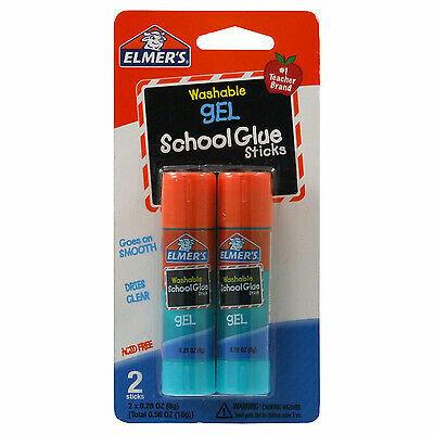 Elmers / Glue Sticks, Washable Gel School, 0.28 oz Each, [pk-2]