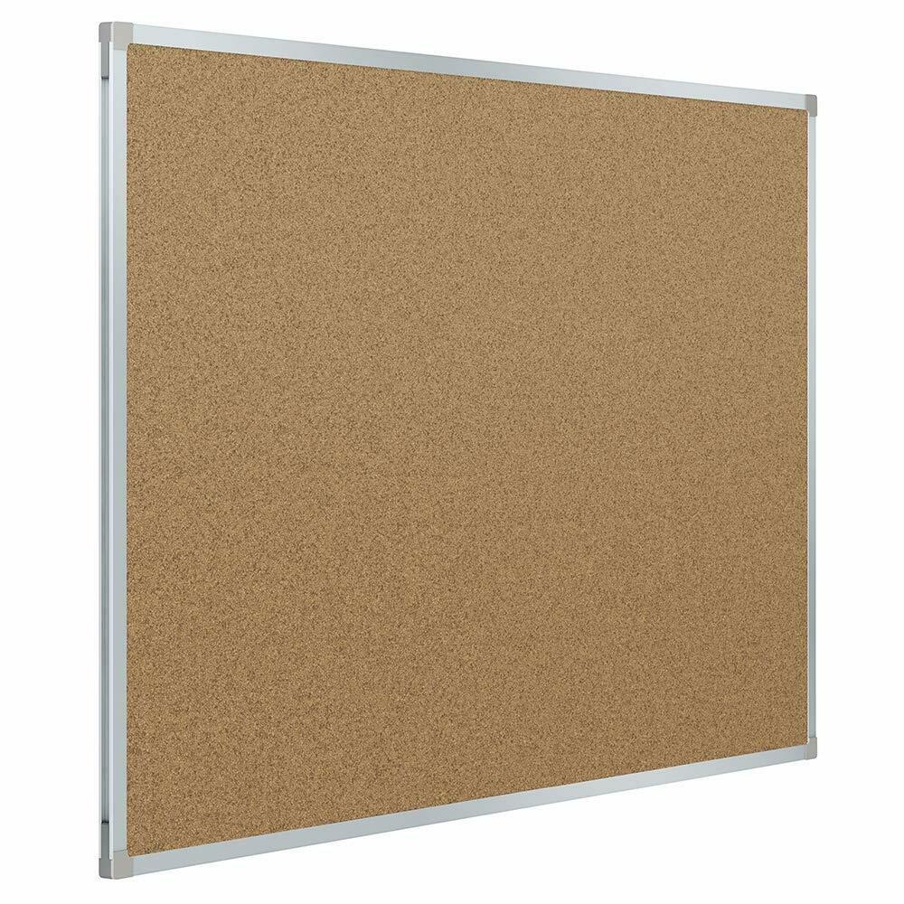Mead / Bulletin Board, 3' x 2' Corkboard, Aluminum Frame