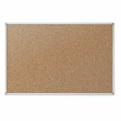 Mead / Bulletin Board, 4' x 3' Corkboard, Aluminum Frame