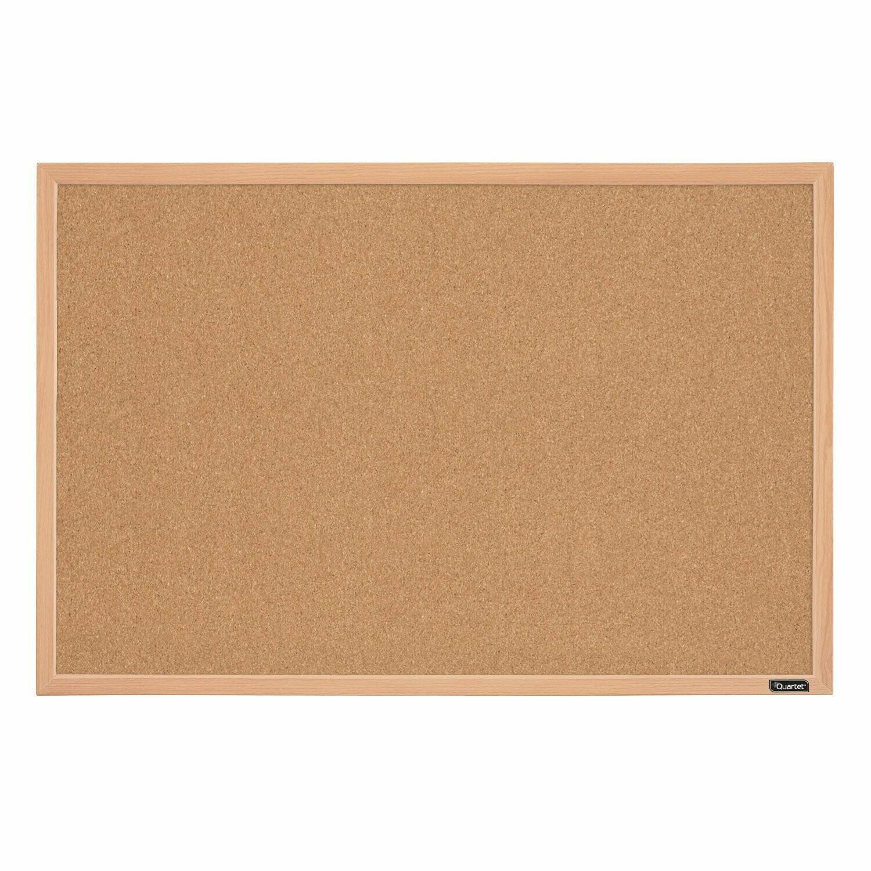 "Quartet / Bulletin Board, 23"" x 35"", Corkboard, Oak Finish Frame"