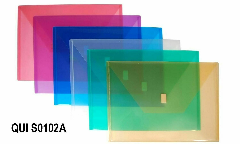 Quick / Envelope Plastic, Letter, Horizontal w/Velcro