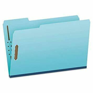 Atlas / Pressboard Folders Legal, 2 Fasteners, Blue, Box-25