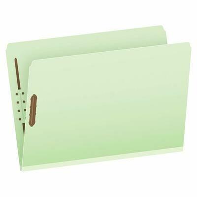 Atlas / Pressboard Folders Legal, 2 Fasteners, Green, Box-25