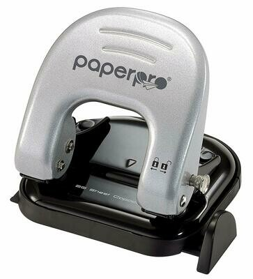 PaperPro / inDULGE™ 20 Two Hole Punch, Silver  and Black