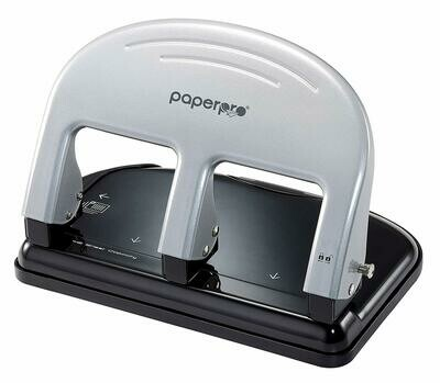 PaperPro / inPRESS™ 40 Three Hole Punch, Silver and Black